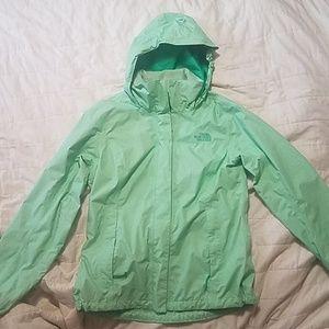 {the north face jacket} waterproof raincoat green